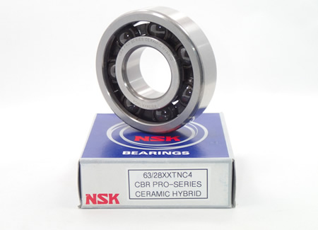 Ceramic Hybrid Ball Bearings for Motorcycle and Karting Applications